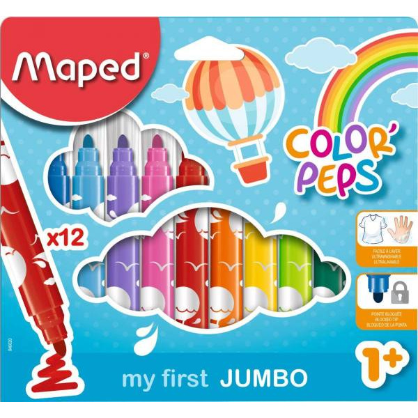Maped Marcadores Color Peps Jumbo x 12 colores - Producto