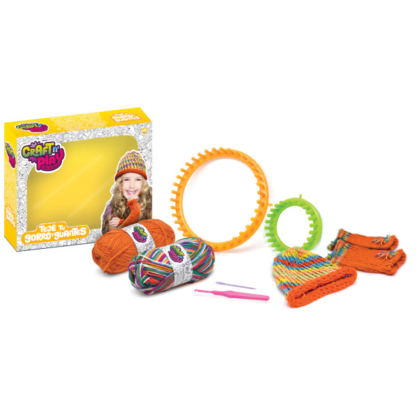 Teje Tu Gorro y Guantes - Craft And Play - MM - Producto